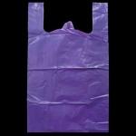 Пакеты майка 45+20х75см/45 плотные 25шт Фиолетовые