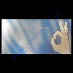 Перчатки-45053 виниловые +Пудра в боксе размер М 100шт