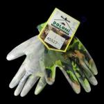 Перчатки 4551 трикотажные с полиуретановым покрытием -Милитари,