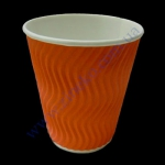 Стакан гофра (волна) 185мл 20шт оранжевый