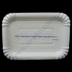 Тарелка бумажная 14х20см супер белая 100шт целлюл.