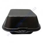 Сендвич-бокс HB-6-b черный 15*15*7см без делений 500шт