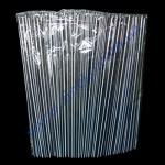 Трубочки (бело-черная косая полоса) с гофрой 21см 200шт