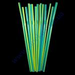 Трубочки (сине-желтая полоса) с гофрой 21см 1000шт