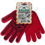 Перчатки 4216 красные (ладошка-точка) 7класс  ХБ-70%/ПЕ30%