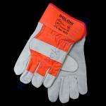 Перчатки 4573 комбинированные (кожа+хлопок) манжет