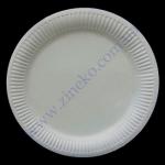 Тарілка паперова 17см ламінована біла/крафт 100шт
