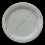 Тарелка бумажная 17см ламинированная супер белая 100шт целлюл.