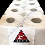 Туалетная бумага-ЭКО 8рул/50м d=12.5cм 1сл. Z-BEST белая-рецикли