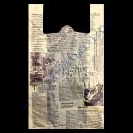 Пакеты майка 30+16х55см/20 Газета 100шт