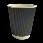 Стакан гофра (прямая) 250мл 25шт серый (под кв80) (25уп/625)