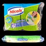 Набор губок целлюлозные Cello Fun 2шт NICOLS