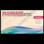 Перчатки MAXSAFE голубые нитрил без пудры 100шт р.М в боксе (7%