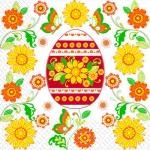 Салфетки 33х33 квітуча писанка Марго 20шт