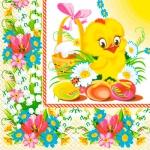 Салфетки 33х33 Весняне курчатко Марго 20шт