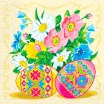 Салфетки 33х33 весняні писанки Марго 20шт