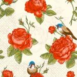 Салфетки 24х24см 3сл. 20шт вінтажні троянди Марго