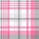 Салфетки 33х33 Стильна шотландка рожева Марго 20шт