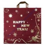 Пакет петля 45*43+3см/100 бордо Новый год 25шт