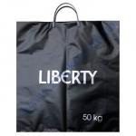 Пакет с пластиковой ручкой 43*50+12см/90 Liberty премиум черный