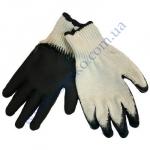 Перчатки 4182 х/б белые с черным латексным покрытием
