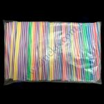 Трубочка фреш-цветная-белая на искось прямая 25см d=8мм 500шт