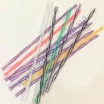 Трубочка фреш-3D-цветная прямая 25см d=8мм 500шт