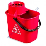 Ведро пластик 14л c отжимом 5040 EASY красное под заказ