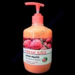 Крем-мыло Fresh Juice клубника + гуава 460г с дозатором