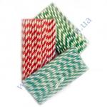 Трубочки Бумажные ассорти 19,5 см 50шт прямые