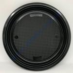 Тарелка-АС d=22см черная 50шт (Укр)