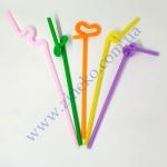 Трубочки с длинной гофрой Ассорти 26см 100шт Artistik Straw