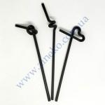 Трубочки с длинной гофрой Черные 26см 100шт Artistik Straw