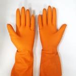 Перчатки Z-BEST Prof. Line-45193 плотные оранжевые латекс хоз.рS