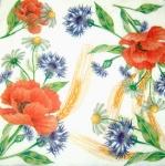 Салфетки 33х33 польові квіти Марго 20 шт