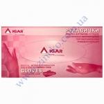 Перчатки Мед IGAR (нитрил т. Розовые) без пудры 200шт р.М (7%)