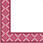 Салфетки 33х33 укр. орнамент (Етно вишиванка червона) Марго 50ш