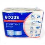 Туалетная бумага More Goods 2сл/17м 24рул. белый целлюлоза
