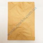 Пакет бумажный 22+6х31см из бурой крафт бумаги