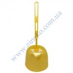 Комплект для унитаза SZ 146 WC пластик бежевый-золотистый Paster