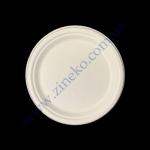 Тарілка пап СТ d=22см біла 125шт (цукровий очерет) Р09