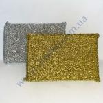 Скребок-губка для тефлона 7,5х11см (золотые и серебряные) Польша