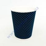Стакан гофра (пряма) 250мл 20шт 3D синій (40уп/я) (під кр76)
