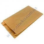 Пакет бумажный 16+6*32см из бурой крафт бумаги