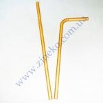 Трубочки Бумажные Крафт 19,7см 100 шт с гофрой КN-1-18-22