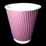 Стакан гофра (пряма) 330мл 20шт фіолетовий (40уп/я) (під кр79)