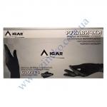 Рукавички Мед IGAR-9142 (нітрил Чорні міцні) без пудри 200шт р.L