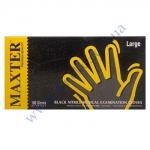 Рукавички MAXTER суперміцні нітрил Чорні в боксі розм. М 100шт
